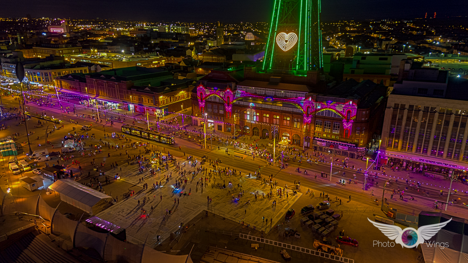 Aerial view of Ride the Lights 2016, credit Photo Wings