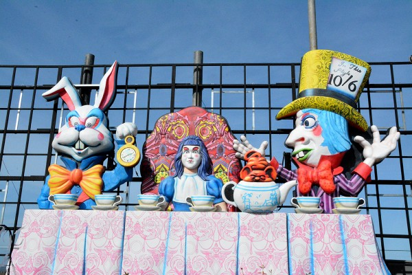 Alice's Garden Tableau in Blackpool Illuminations, sponsored by Houndshill Shopping Centre