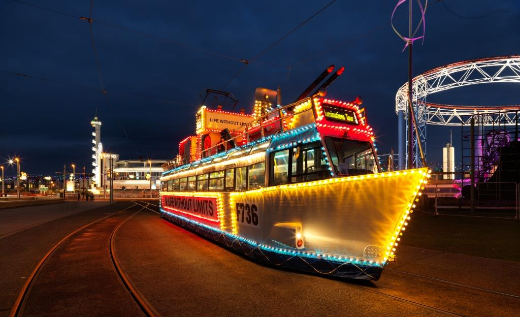 HMS Blackpool Illuminated Tram