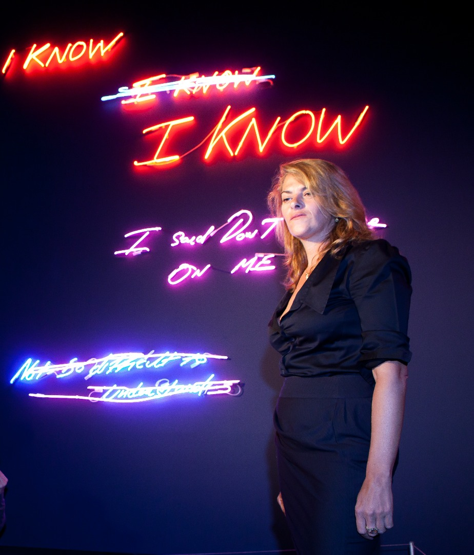 Neon by Tracey Emin, part of LightPool at Grundy Art Gallery