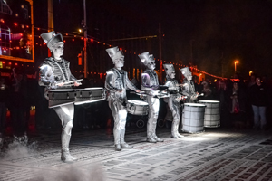 Spark! by Worldbeaters Music at LightPool Festival during the Blackpool Illuminations