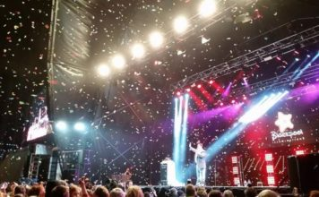 Peter Kay Switches on Blackpool Illuminations in 2016