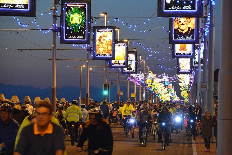Ride the Lights, traffic free preview of Blackpool Illuminations