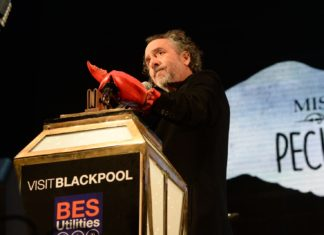 Tim Burton Switches on the Blackpool Illuminations in 2015