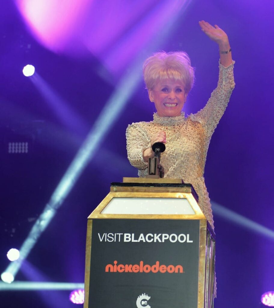 Dame Barbara Windsor Blackpool Illuminations switch on 2016