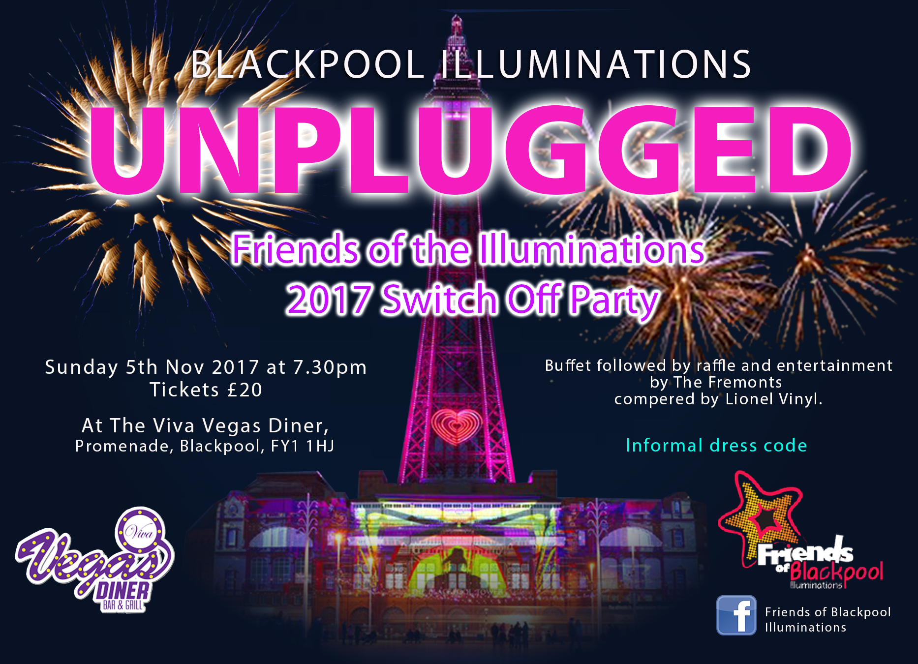 Blackpool Illuminations Unplugged, Switch Off Party 2017