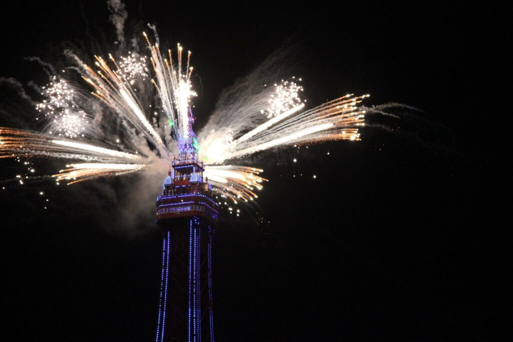 Fireworks at Blackpool Illuminations Switch On 2017 - photo thanks to Kate Yates