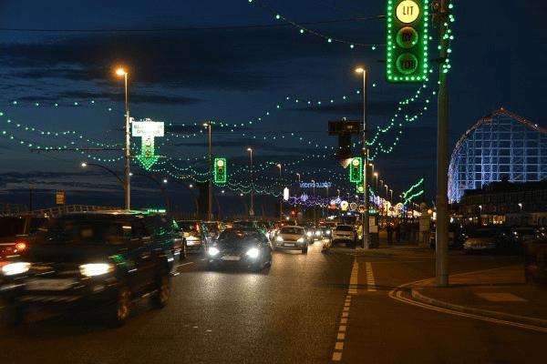 Donation point at Blackpool Illuminations, part of your quick guide to Blackpool Illuminations