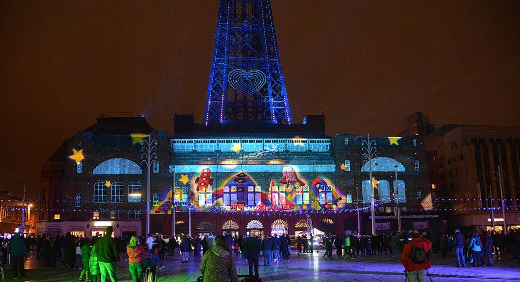 Lightpool Digital Projection on Blackpool Tower