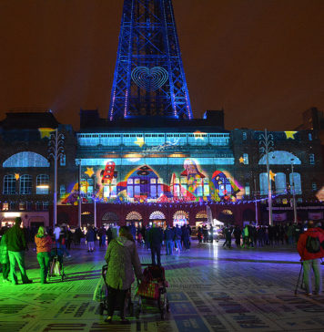 Lightpool Digital Projection on Blackpool Tower