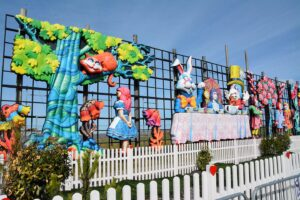 Alice in Wonderland - one of the tableaux at Blackpool North Shore