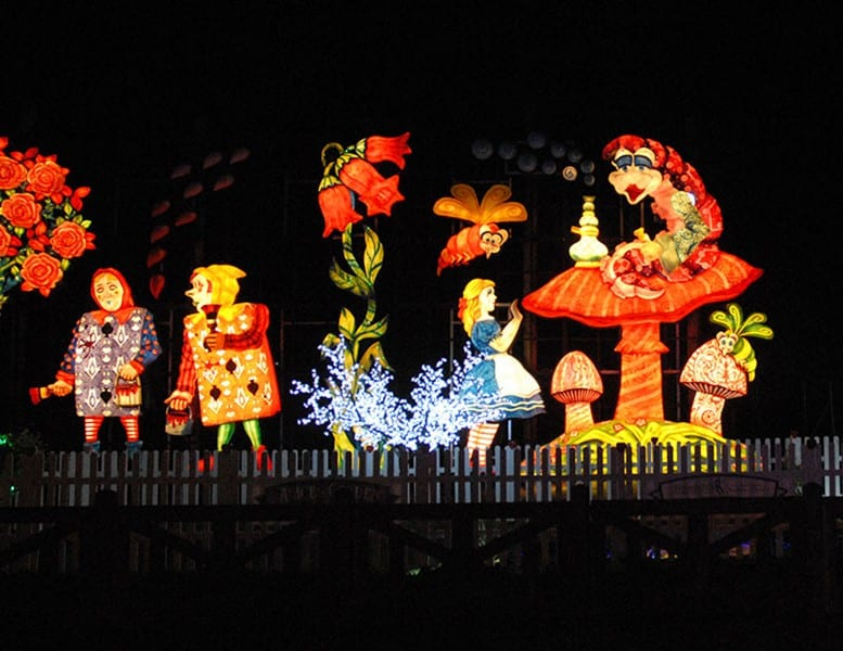 Alice in Wonderland Tableau, find out about Blackpool Illuminations