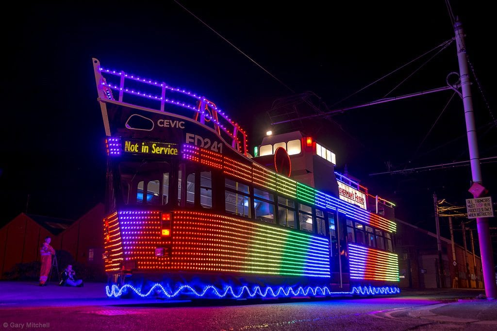 Blackpool Illuminated Heritage Tram, Fisherman's Friend Trawler Tram