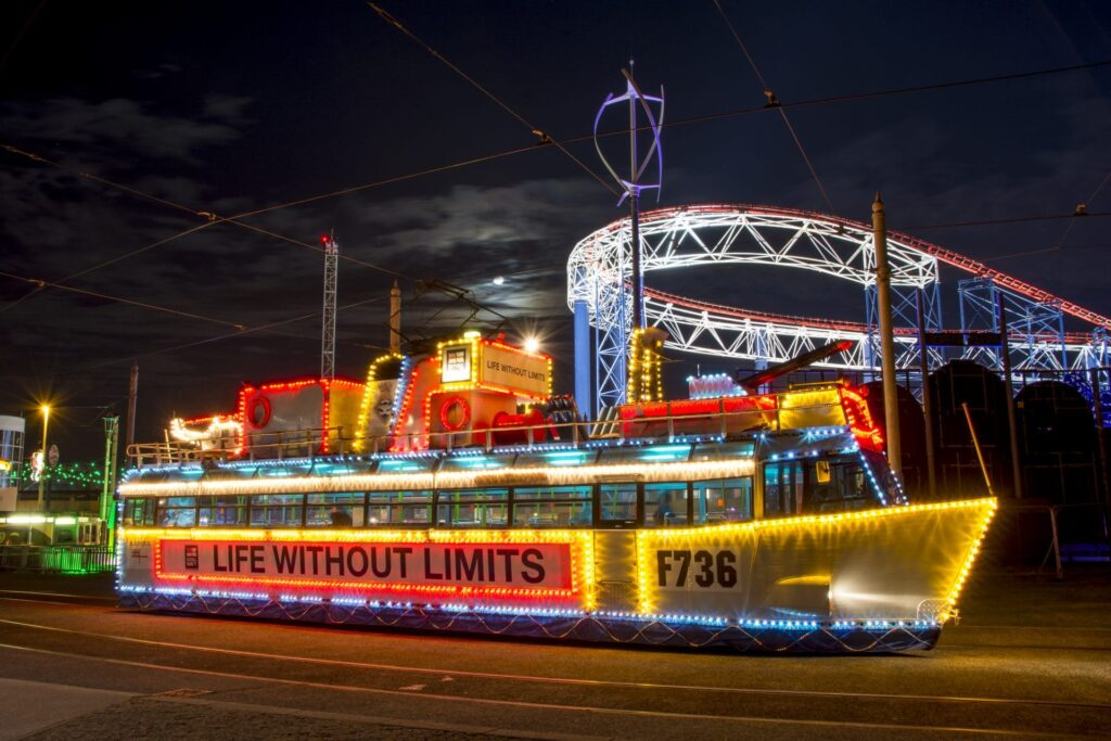 Blackpool Illuminated Heritage Tram, HMS Blackpool Frigate. Find out about Blackpool Illuminations