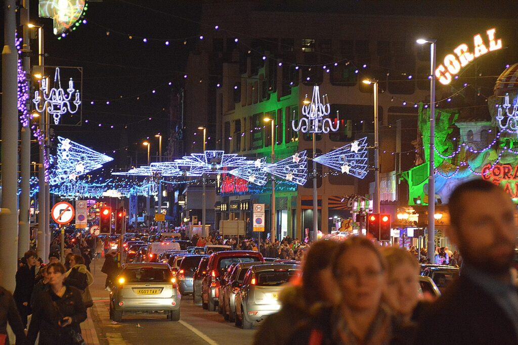 Central promenade. Find out about Blackpool Illuminations