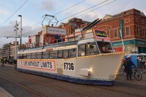 HMS Blackpool Frigate Tram Ride the Lights 2017 photos