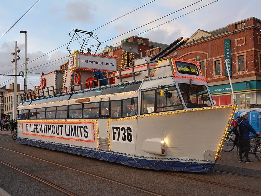 HMS Blackpool Frigate Tram Ride the Lights 2017 photos