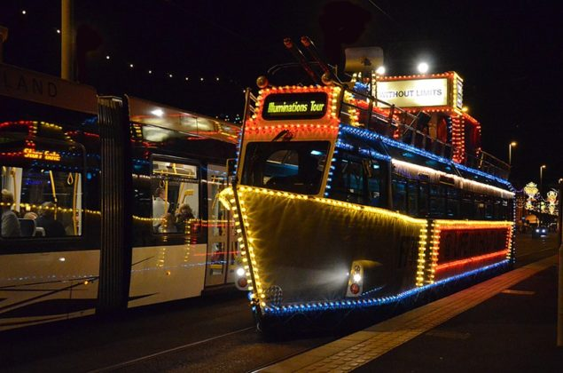 HMS Blackpool Frigate Illuminated Blackpool Tram