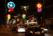 Overhead Illuminations on Blackpool promenade