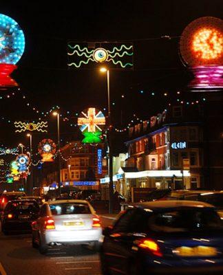 Overhead Illuminations on Blackpool promenade