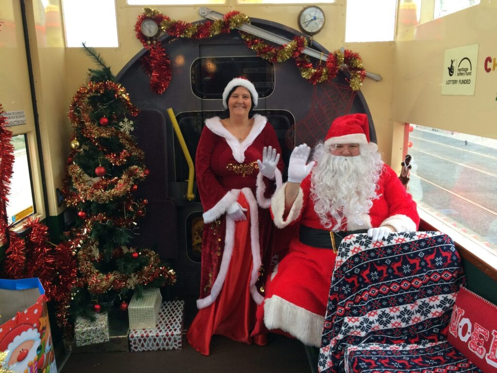 Meet Santa on the Western Train Tram at Christmas