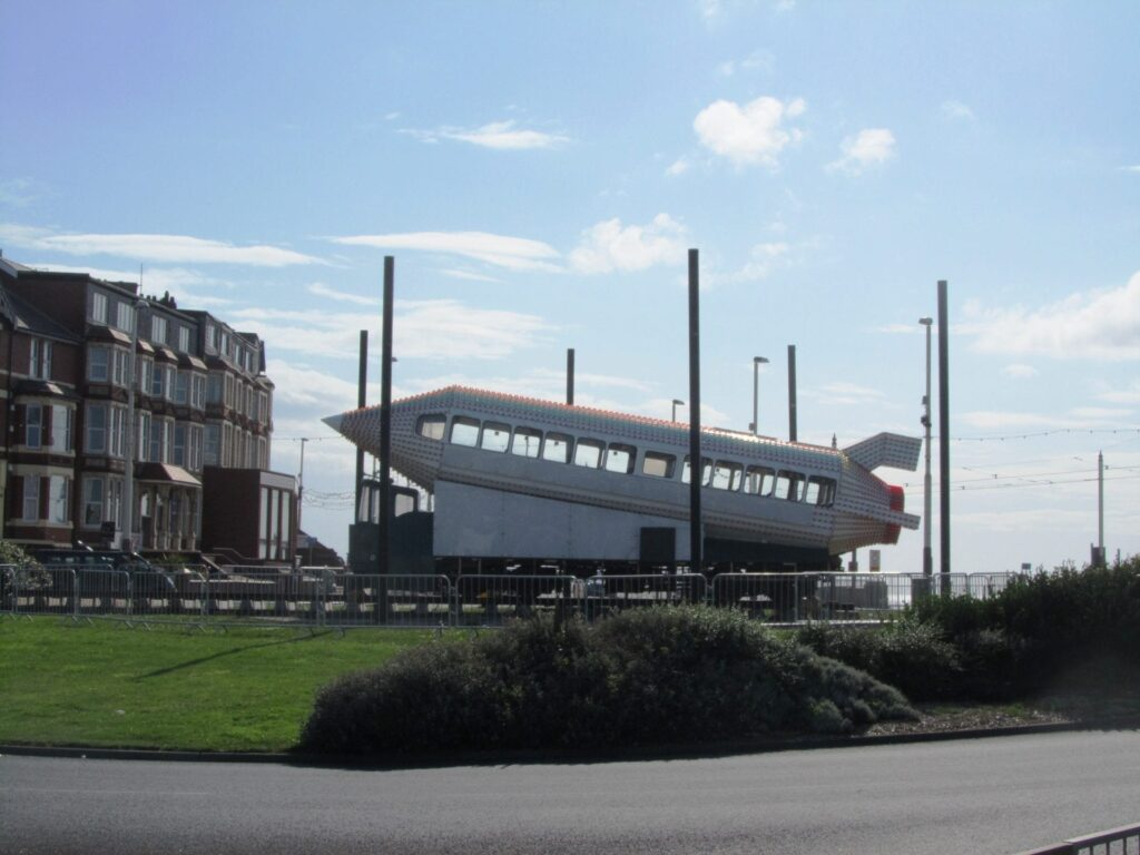 Rocket Tram on display at Gynn Roundabout in 2012