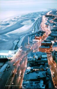 Blackpool aerial view looking north - Old Blackpool Illuminations photos
