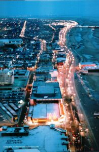 Aerial view of Blackpool looking south