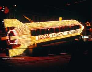 Rocket tram - Old Blackpool Illuminations photos