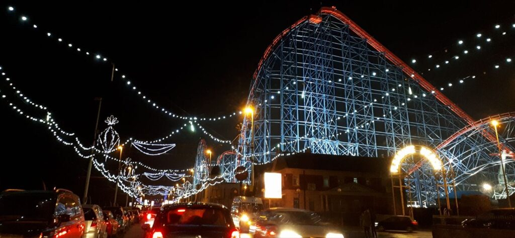 Lights at the Pleasure Beach by Louise Barklam
