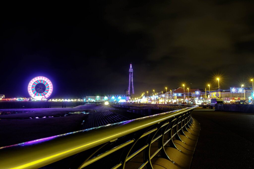 Illuminations on the seafront by Sean Donno