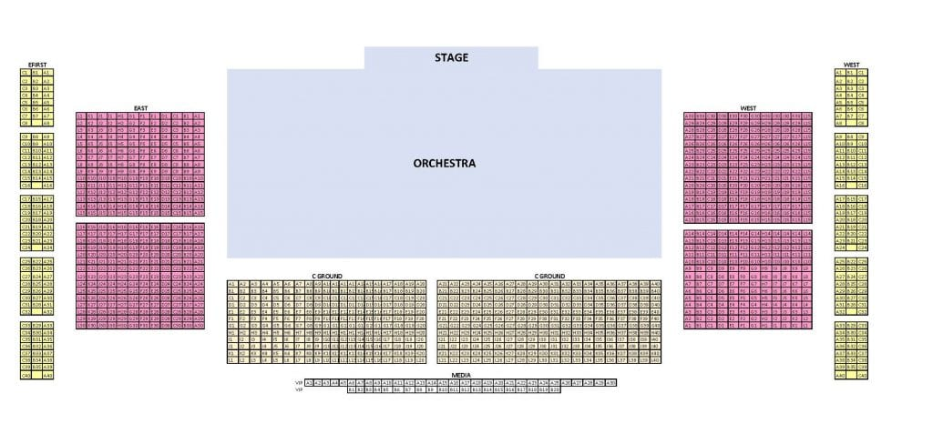 Detailed seating plan for Light Odyssey at Lightpool