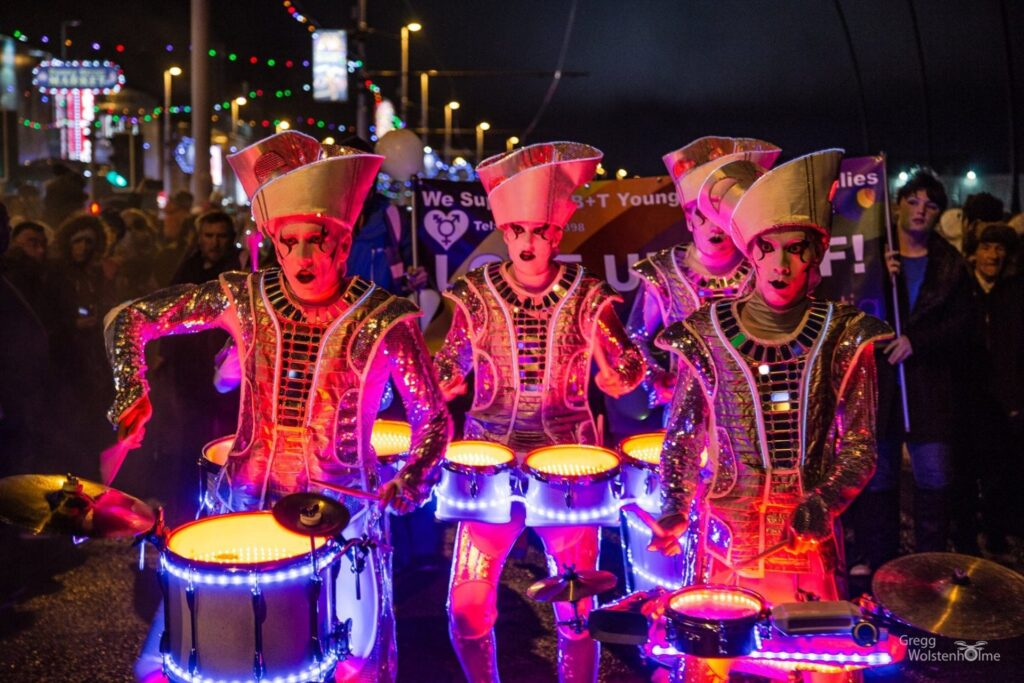 Carnival of Lights, Lightpool Festival at Blackpool Illuminations. Photo: Gregg Wolstenholme