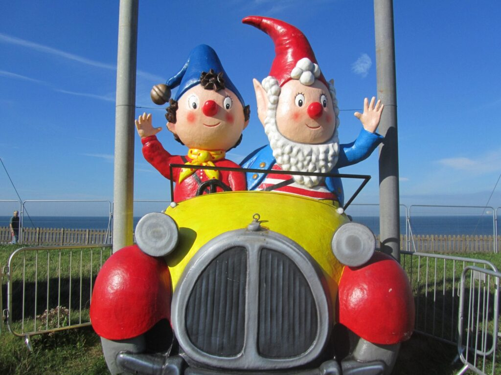 Noddy and Big Ears by daylight in the Blackpool Illuminations